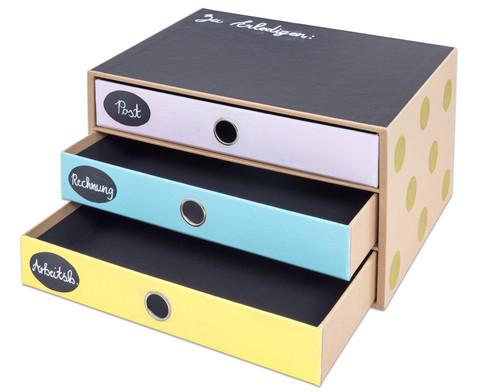 SOHO  3er Schubladenbox Kraft-9