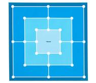 Spielplane - Mühle, 75 x 75 cm