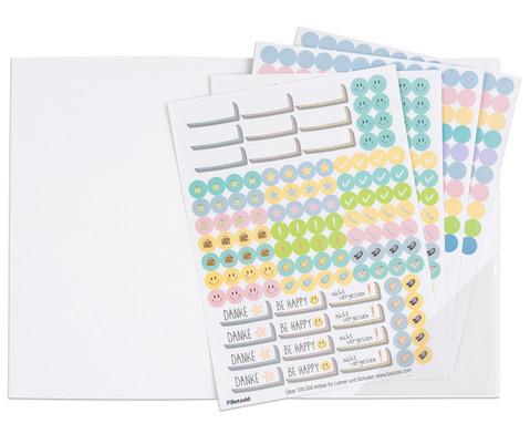 Sticker zum Design-Schulplaner 4 Bogen