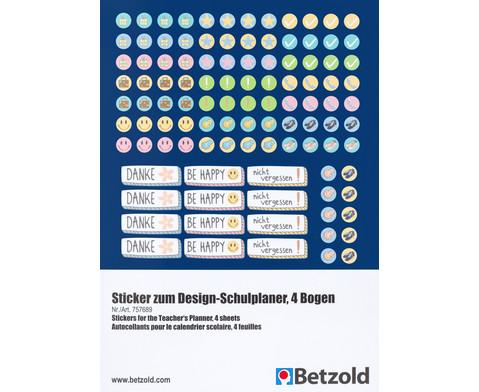 Sticker zum Design-Schulplaner 4 Bogen-2
