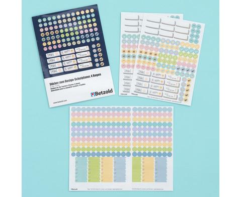 Sticker zum Design-Schulplaner 4 Bogen-9