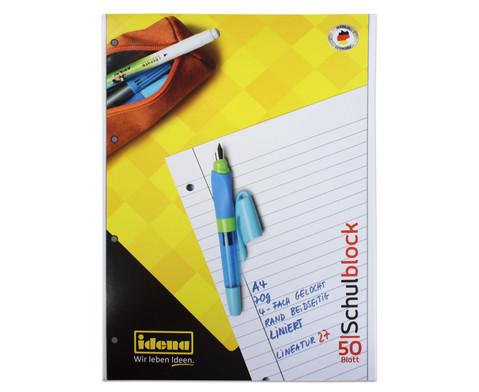 Schulblock DIN A4 liniert 10er-Set