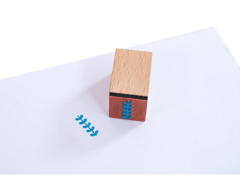 Holzstempel Flowers  Dots mit Stempelkissen-11