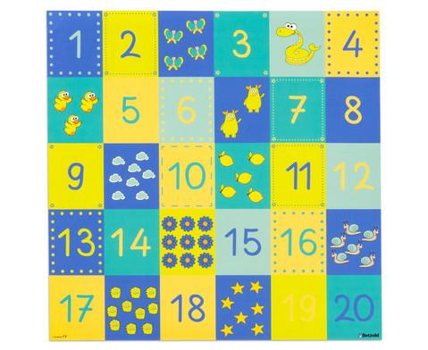 Spielplane - Zahlenraum 20 75 x 75 cm