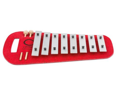 Sopran-Glockenspiel auf Filzunterlage