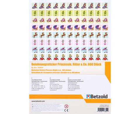 Belohnungssticker Prinzessin Ritter  Co 660 Sticker-2