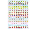 Belohnungssticker Prinzessin Ritter  Co 660 Sticker-3