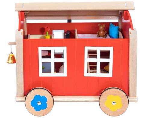 Puppenbauwagen mit Zubehoer-3
