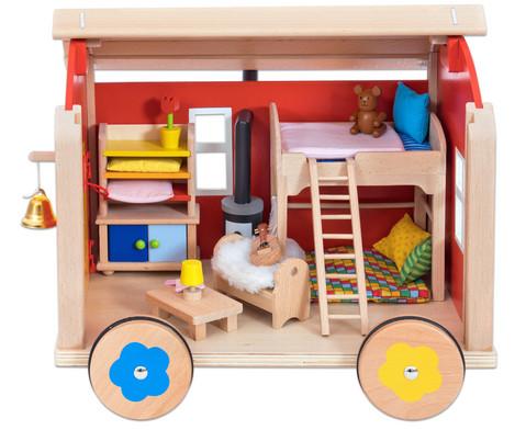 Puppenbauwagen mit Zubehoer-4