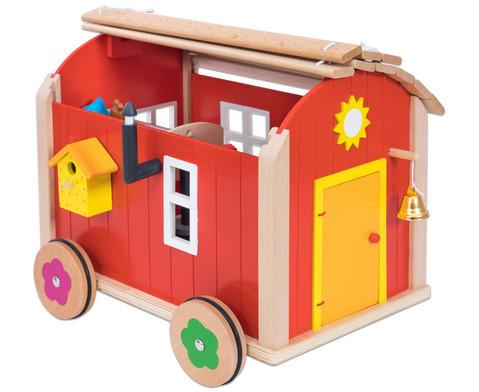 Puppenbauwagen mit Zubehoer-5