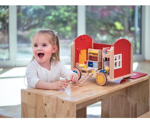 Puppenbauwagen mit Zubehoer-6