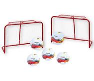 Set: 2 Mini-Tore + 5 Fußbälle inkl. Netz