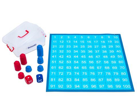 Zahlenraum 100 - Spielplane Figuren und Wuerfel 75 x 75 cm