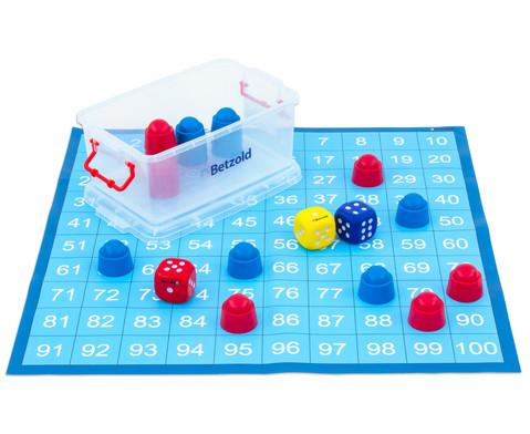 Zahlenraum 100 - Spielplane Figuren und Wuerfel 75 x 75 cm-2