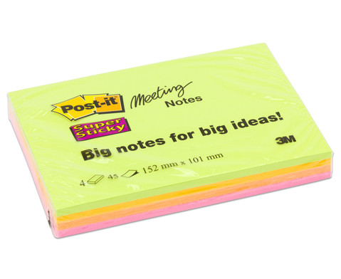 Post-it Super Sticky Big Notes klein