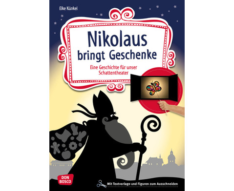 Nikolaus bringt Geschenke- Schattentheater-Set