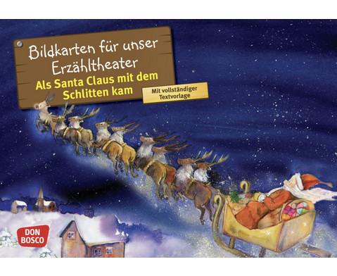 Bildkarten Als Santa Claus mit dem Schlitten kam