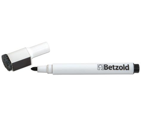 Betzold Folienstift schwarz mit Loeschfilz und Magnet