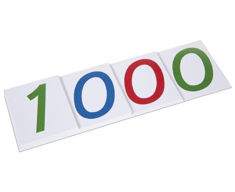 Grosse Zahlenkarten aus Karton 1 - 1000