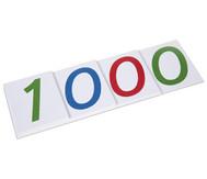 Große Zahlenkarten aus Karton, 1 - 1000