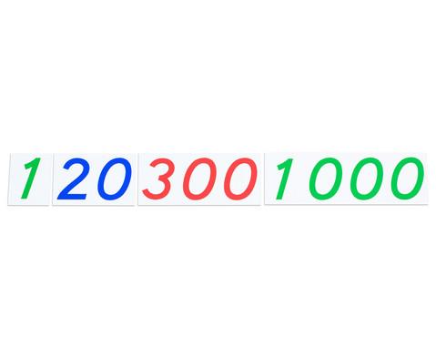 Grosse Zahlenkarten aus Karton 1 - 1000-3