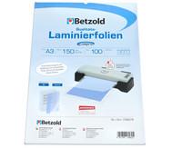 Betzold Laminierfolie A3, matt + glänzend 150 mic, 100 St.