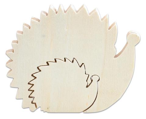 Holzfigur Igel 2 in 1
