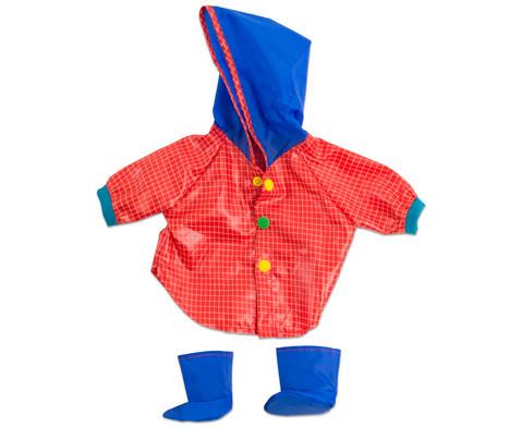 Puppenkleidung Regenmantel und Stiefel-1