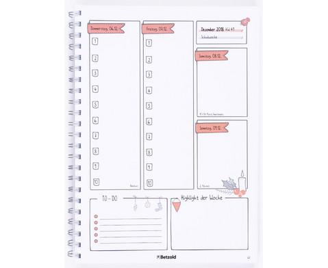 Spar-Set 20 Betzold Design-Schulplaner 2018-2019 Ringbuch  20 m Magnetband-5
