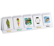 Schreib- und Erzählflip für englische Fragewörter