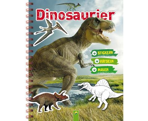 Dinosaurier Stickern Raetseln Malen