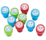 Stempel mit Emoji-Motiven, 10er Set