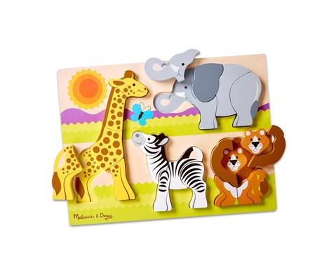Safari Tier Holz-Puzzle