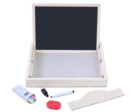 Sandwanne mit Tafel und Whiteboard