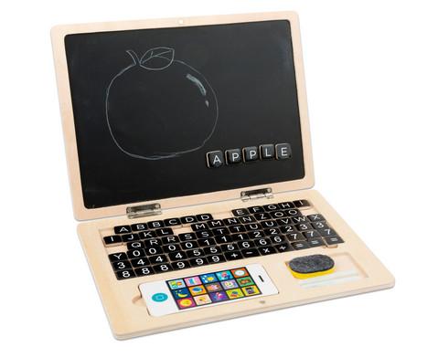 Holz-Laptop mit Tafel