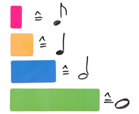 Betzold Musik bunte Rhythmus-Bausteine magnetisch