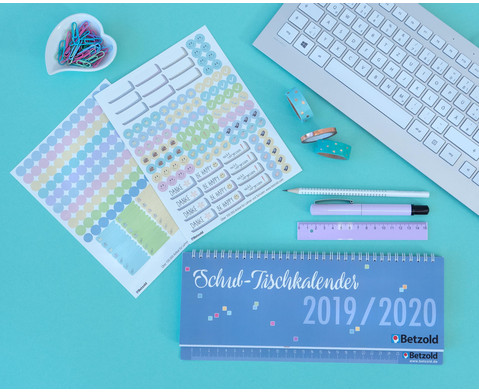 Tischkalender Schule 2019-2020-2