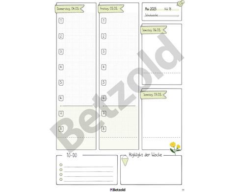 Betzold Design-Grundschulplaner 2019-2020 Hardcover-9