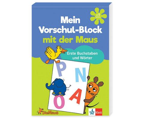 Vorschul-Block mit der Maus - Buchstaben und Woerter