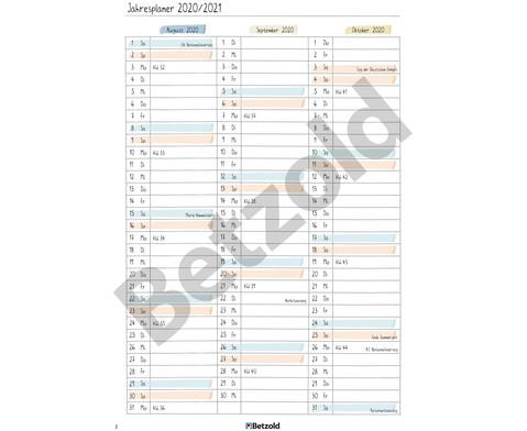 Betzold Design-Schulplaner 2019-2020 Hardcover DIN A5-14