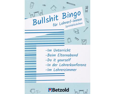 Betzold Bullshit-Bingo fuer Lehrer-innen Spielebloeckchen