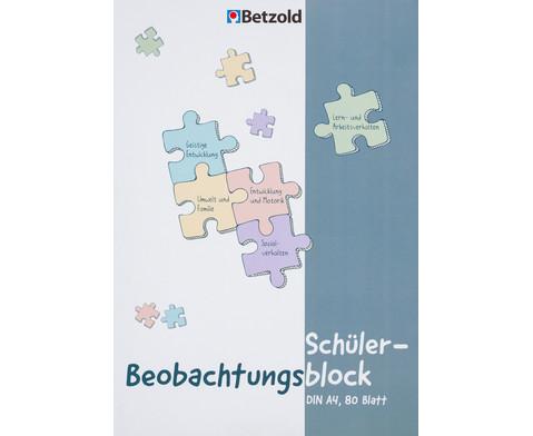Betzold Schueler-Beobachtungsblock DIN A4 80 Blatt