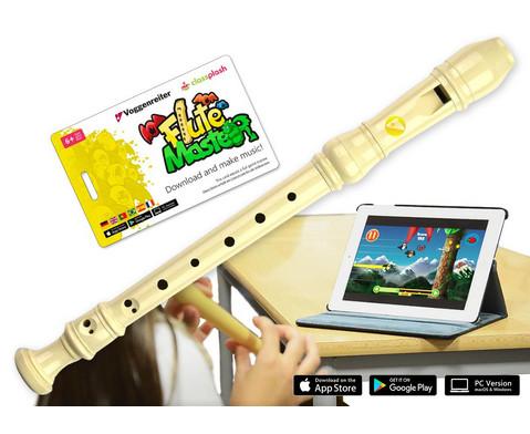 Flute Master Kunststoff-Blockfloete mit barocker Griffweise