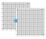 2 magnetische Koordinatensysteme für die Tafel