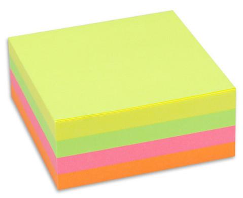 Haftnotizwuerfel 320 Blatt Neon oder Pastell Mix