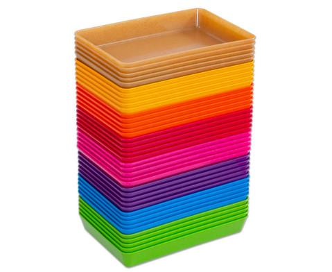 treeNside-Materialschalen klein 5 Stueck verschiedene Farben