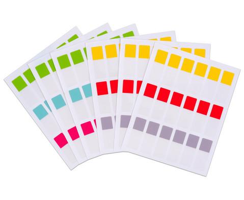 Index-Tabs selbstklebend 10 x 30 mm 108 Stueck 6 Farben