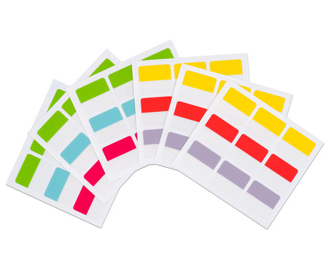 Betzold Index-Tabs 22 x 25 mm 54 Stueck 6 Farben