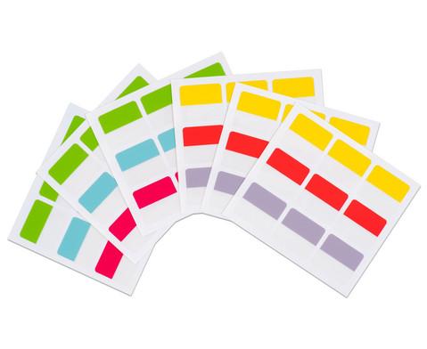 Index-Tabs selbstklebend 22 x 25 mm 54 Stueck 6 Farben