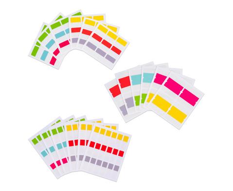 Index-Tabs selbstklebend 44 x 40 mm beidseitig 24 Stueck 6 Farben